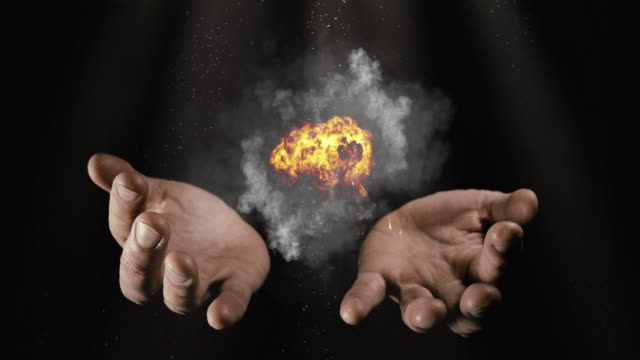 Magicians hands with fire and smoke Magician conjuring a magic spell with smoke and fire paranormal stock videos & royalty-free footage