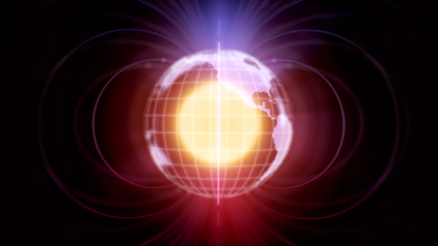 magnetic field Earth and magnetic field magnet stock videos & royalty-free footage