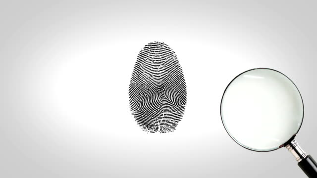 Magnifity glass searching fingerprint video