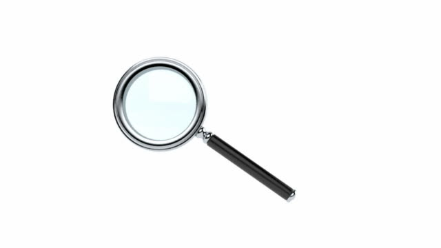 Magnifying glass Magnifying glass on white background magnifying glass stock videos & royalty-free footage
