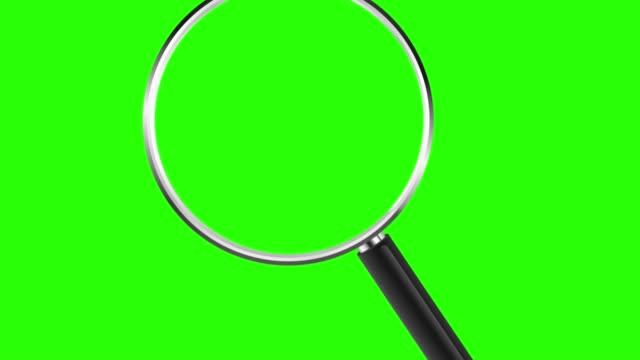 lupe mit zoom in chroma-taste grün einfügen. 4k - lupe stock-videos und b-roll-filmmaterial