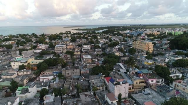mahebourg aerial shot - mauritius - isole mauritius video stock e b–roll