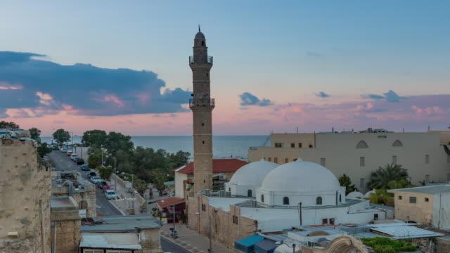 Mahmadiyya Mosque Jaffa Day to Night Time Lapse video
