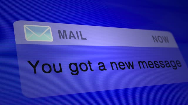 Mail and message notification windows Mail and message notification windows email icon stock videos & royalty-free footage