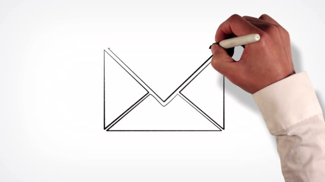 Mail Envelope Whiteboard Stop-Motion Style Animation video