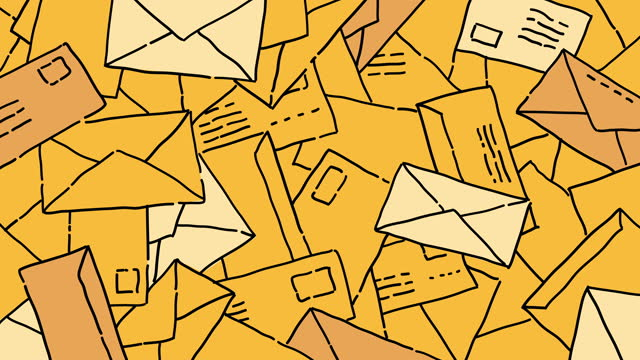 Mail Envelopes Animated Background video