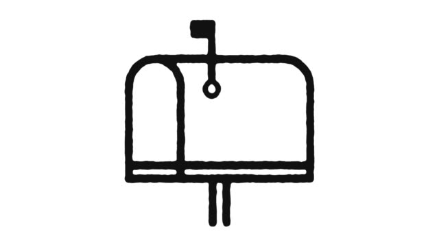 Mailbox Icon Animation Footage & Alpha Channel