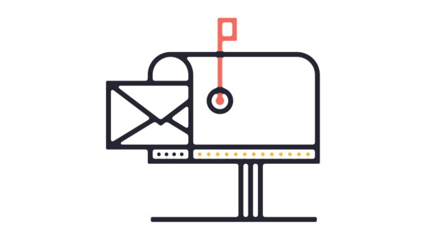 Mailbox Icon Animation Thin line animation of mailbox icon on white background. post office stock videos & royalty-free footage