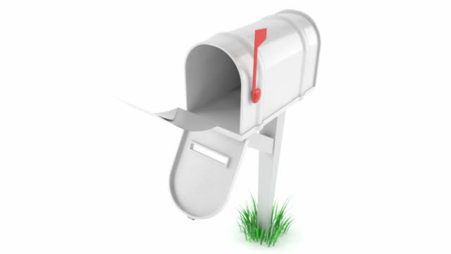 Mailbox with flying letter video