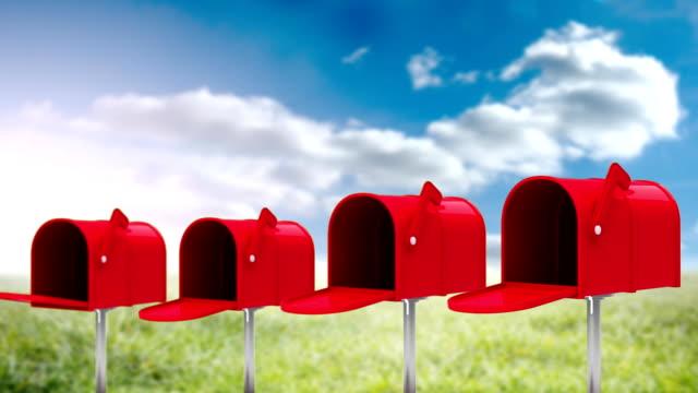 帶紙張的郵箱 - postal worker 個影片檔及 b 捲影像