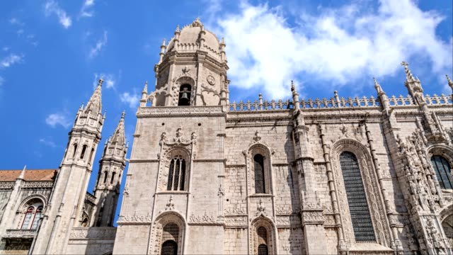 Main facade of Jeronimos Monastery, Lisbon video