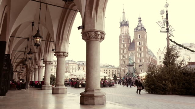 Main Market square of Krakow video