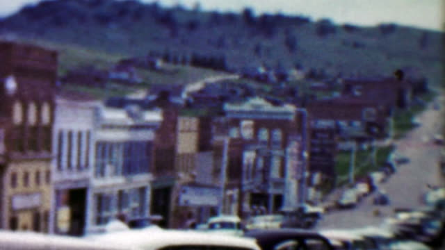 1959: Main Street Cottage Inn Cafe old mining small town. video