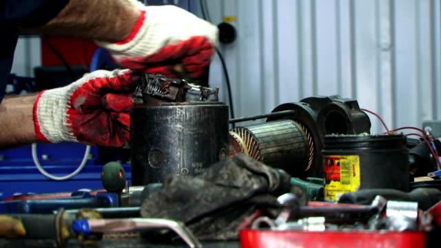 Maintenance. Close-up video