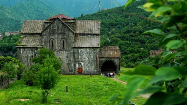 Majestic ancient church in armenian monastery Akhtala video