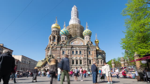 Majestic Church of the Saviour on Spilled Blood, St. Petersburg, Russia video