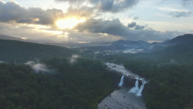 Majestic Jungle Waterfalls Aerial View video