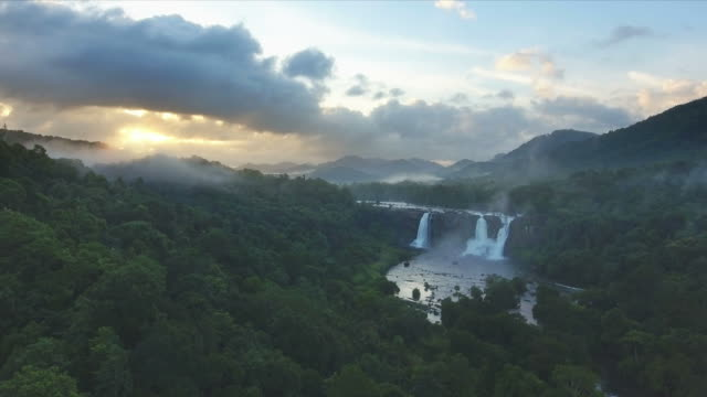 Majestic Lush Tropical Jungle Waterfalls video