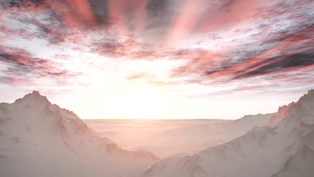 Majestuoso Remote Wilderness Snow Mountains Sunrise paisaje - vídeo