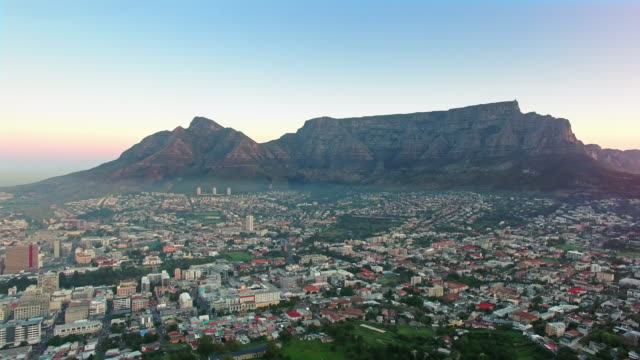 Majestic Table Mountain and the Cape Town city bowl video