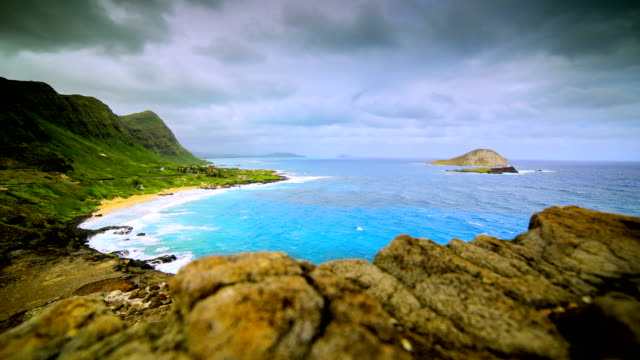 Makapuu Lookout, Oahu Hawaii time lapse and real-time footage series oahu stock videos & royalty-free footage
