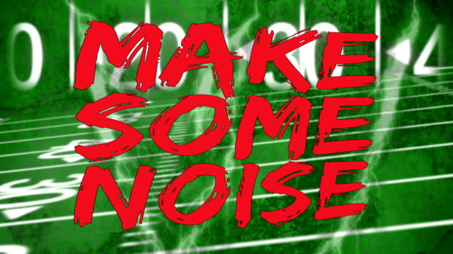 make some noise on american football field video
