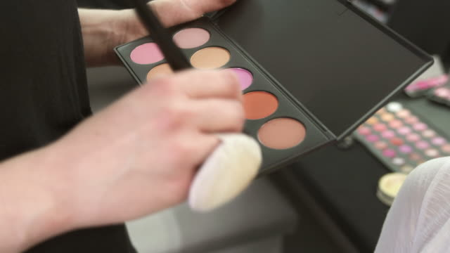 HD: Make-Up Artist Using Eyeshadow Palette video