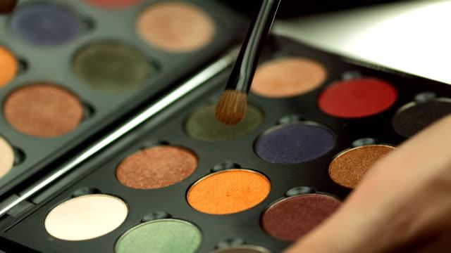 HD: Makeup Artist Using Eyeshadow Palette video