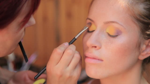 make-up of young woman video