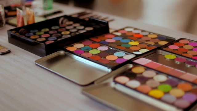 makeup palettes dolly shot video