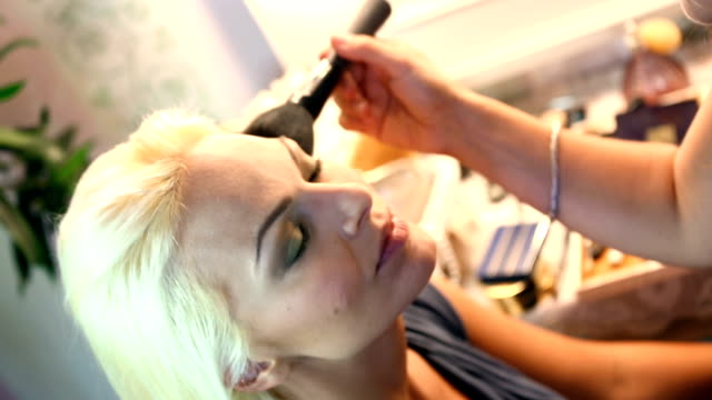 Makeup procedure. video