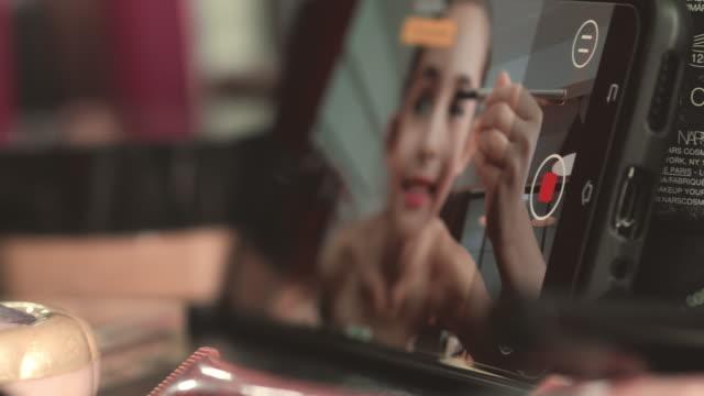 메이크업 블로깅 - influencer 스톡 비디오 및 b-롤 화면