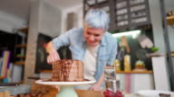 istock Making a delicious chocolate cake 1214603333
