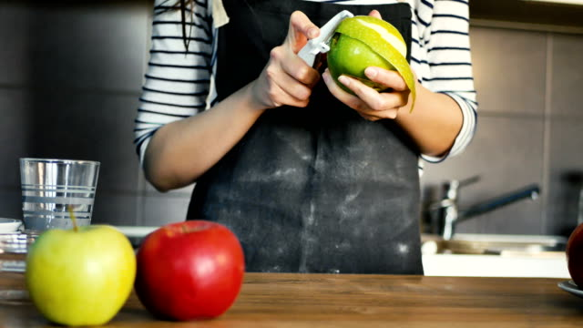 Making a pie Woman making a pie apple fruit stock videos & royalty-free footage