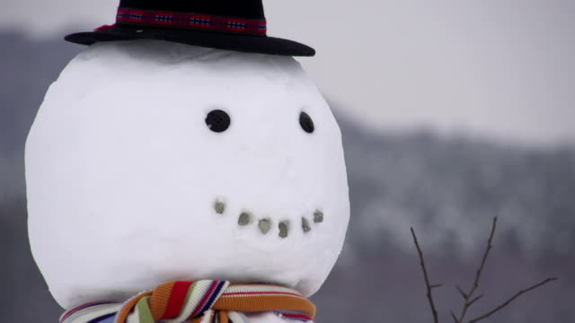 Making a snowman Making snowman's face snowman stock videos & royalty-free footage
