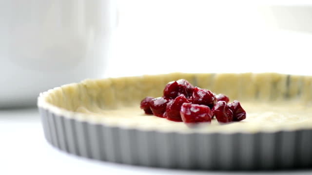 making cherry pie baking cherry pie cherry stock videos & royalty-free footage