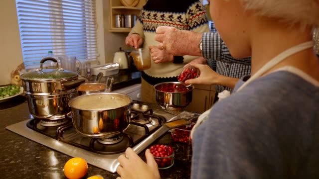 making christmas dinner - pranzo di natale video stock e b–roll