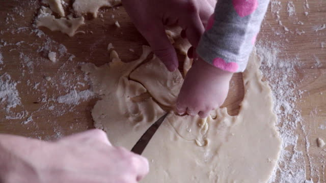 Making cookies with a kid video