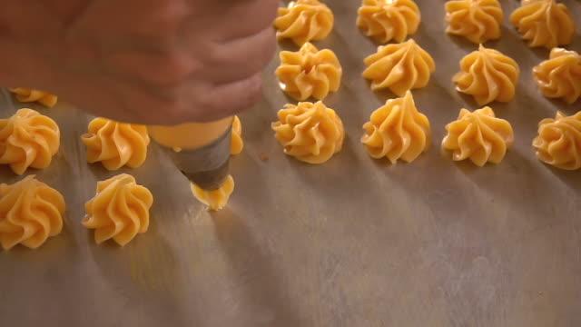 Making dessert slow motion