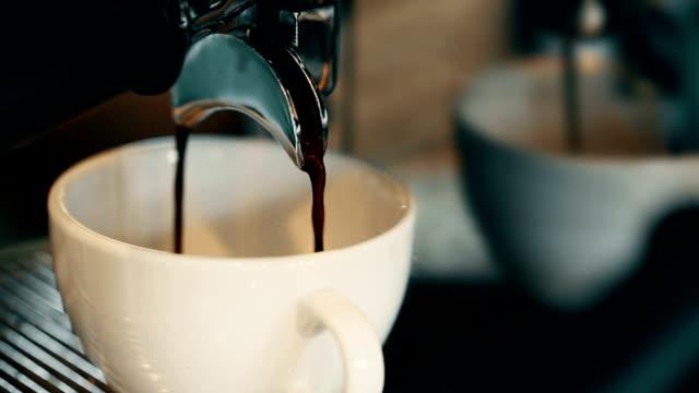 making espresso. video