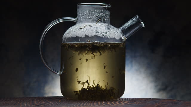 Making green tea video