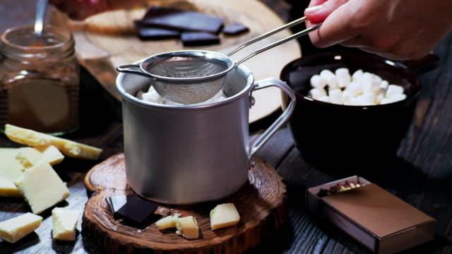 Making hot chocolate