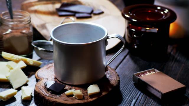 Making hot chocolate video