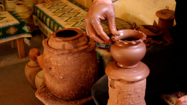 Making pottery art in Cappadocia video