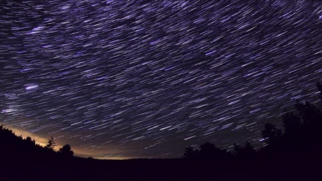 vídeos y material grabado en eventos de stock de making star trails - estrella del norte