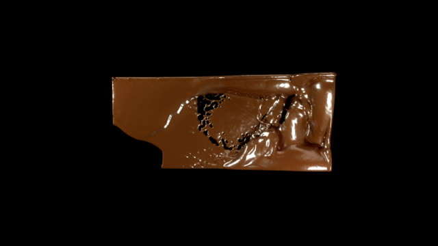 Making sweets: Filling the brick frame with molten chocolate video