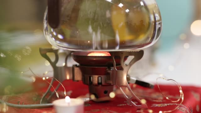 making tea during a traditional Japanese tea ceremony. video