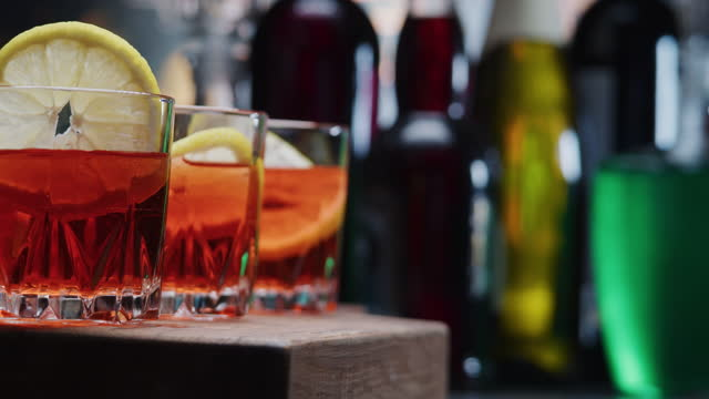 Making three portions of cocktail video