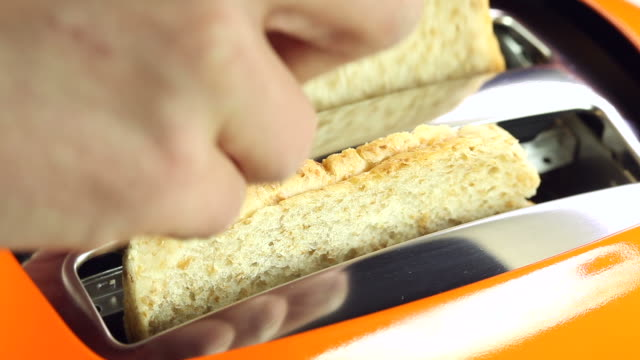 Making toast - close up video