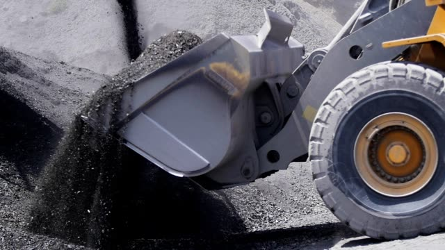 Makro Digging in granite quarry. Makro Digging in granite quarry. construction machinery stock videos & royalty-free footage